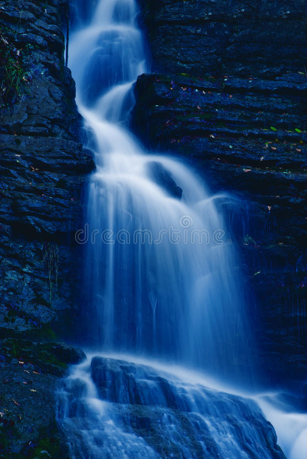 Download Waterfall In The Night Stock Image - Image: 19527851