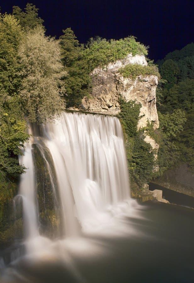 Download Waterfall at night stock image. Image of fresh, green - 34570187