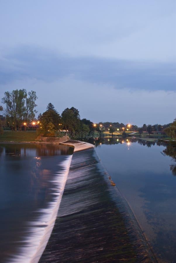 Download Waterfall - night view stock photo. Image of look, skies - 26563790