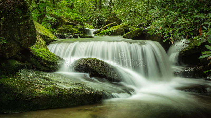 Waterfall in North Carolina stock image