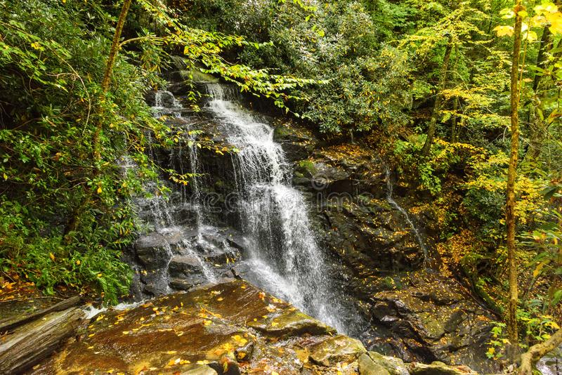 Waterfall in North Carolina Mountains royalty free stock image