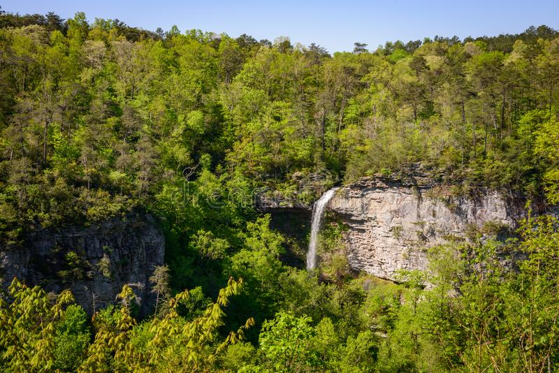 Waterfall in the Forest at Little River Canyon National Preserve royalty free stock photography