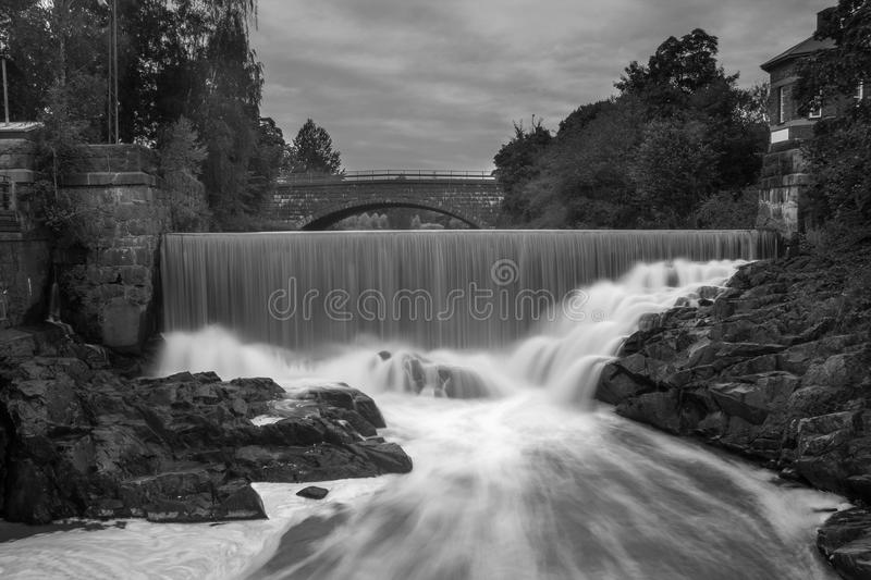 Waterfall in old town royalty free stock image