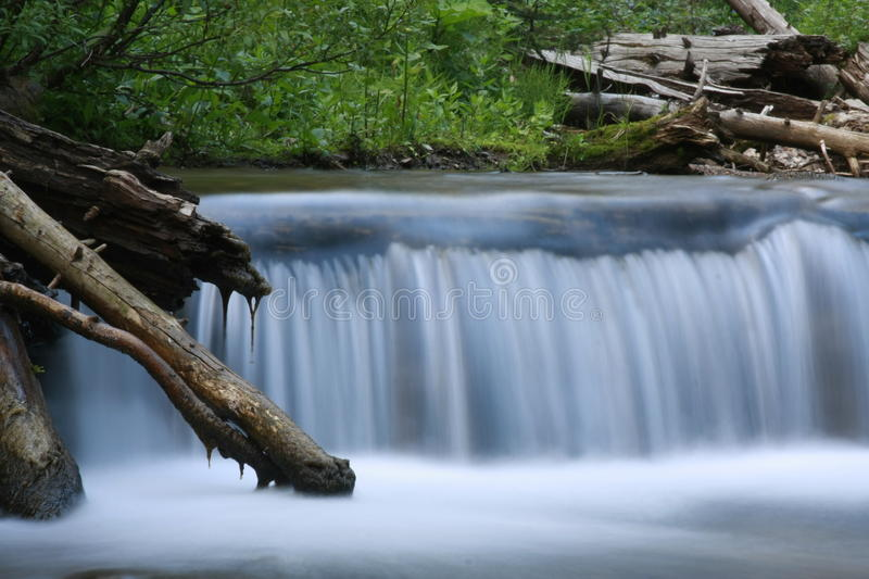 Waterfall Outside of Yellowstone National Park stock photos