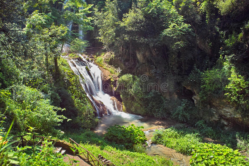 Waterfall In The Park Royalty Free Stock Photo