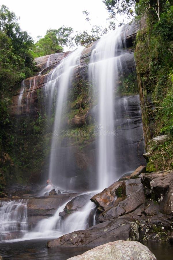 Waterfall in Parque Nacional da Serra dos Orgaos in Petropolis,. Cachoeira dos Treze Waterfall in Parque Nacional da Serra dos Orgaos in Petropolis, Rio de stock photos