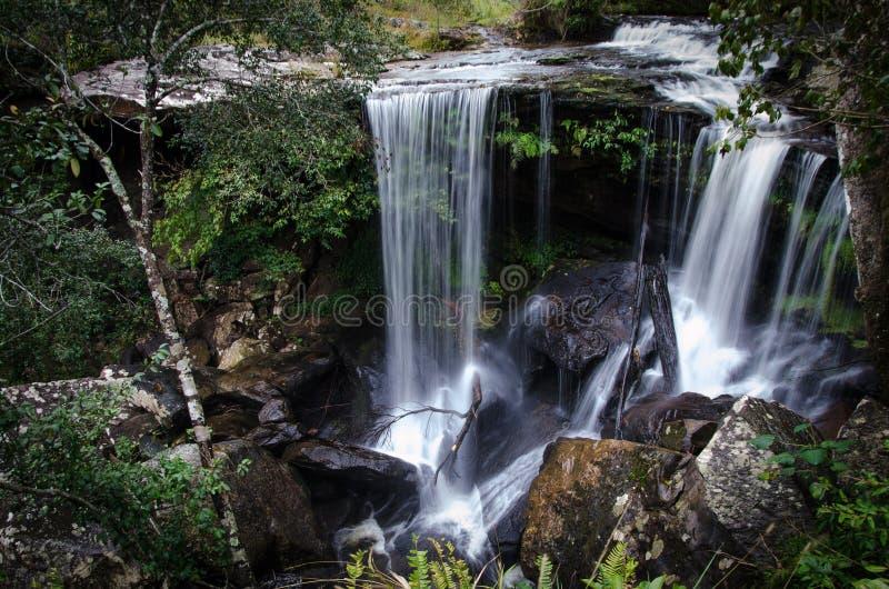 Waterfall at Phu Kradueng national park, Thailand waterfall in Thailand. beautiful waterfall background stock images