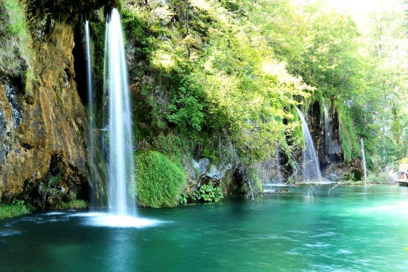 Waterfall from Plitivice park in Croatia stock photo