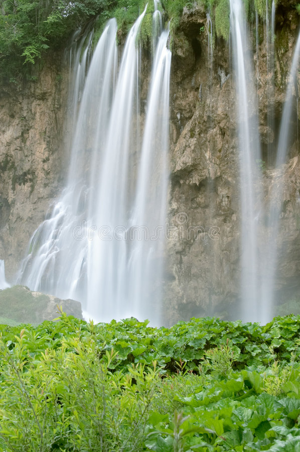Waterfall in Plitvice lake stock photo