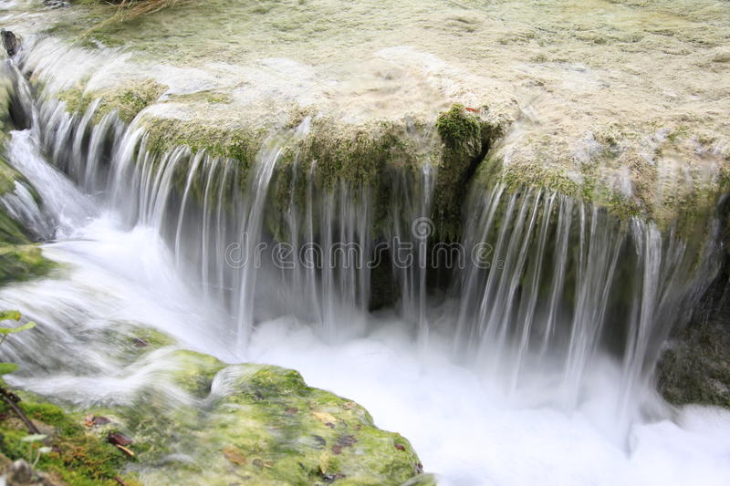 Waterfall in the Plitvice Lakes National Park stock images