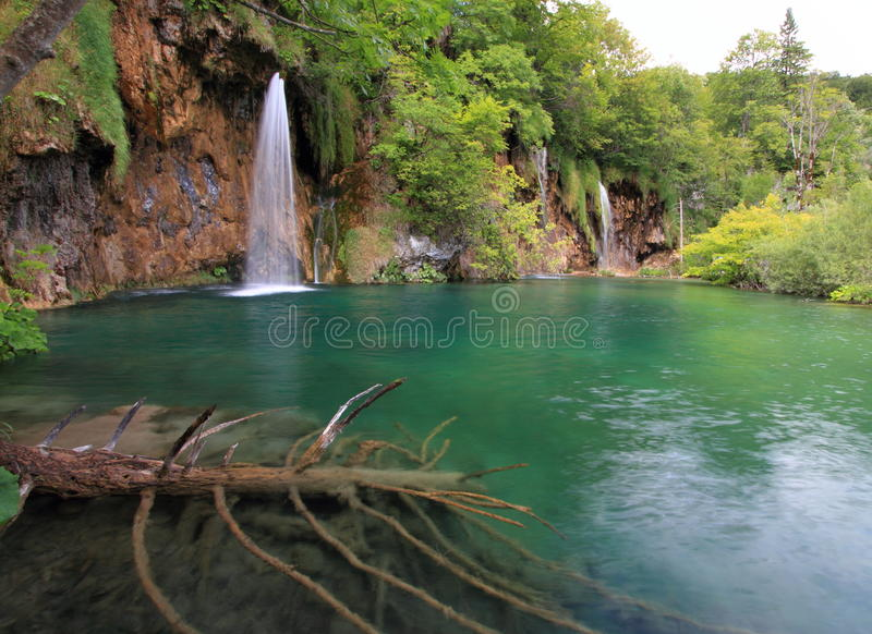 waterfall at Plitvice national park croatia stock images
