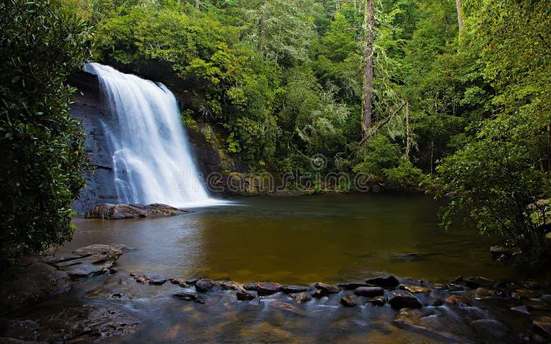 Waterfall Pool. Silver Run Waterfall creates an inviting swimming pool in the summer heat stock photos