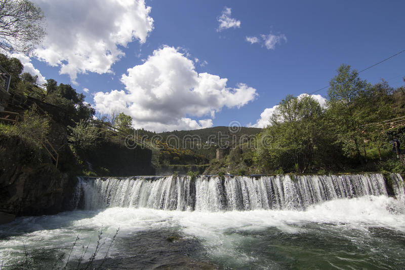 Waterfall in Portugal stock photo