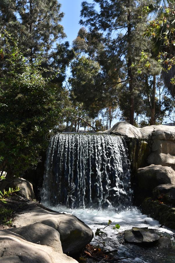 Waterfall in a public park royalty free stock photography