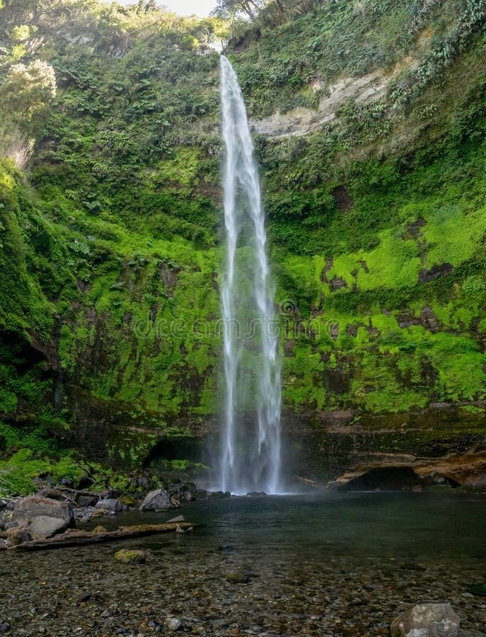 Waterfall in Pucon stock images