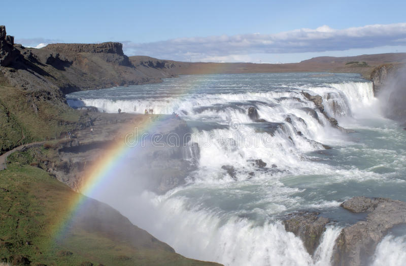 Download Waterfall and rainbow stock image. Image of scenic, white - 9899975