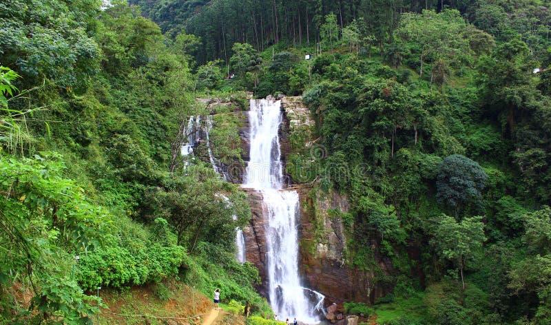 Waterfall Ramboda, Nuwara Eliya, Sri Lanka royalty free stock photography