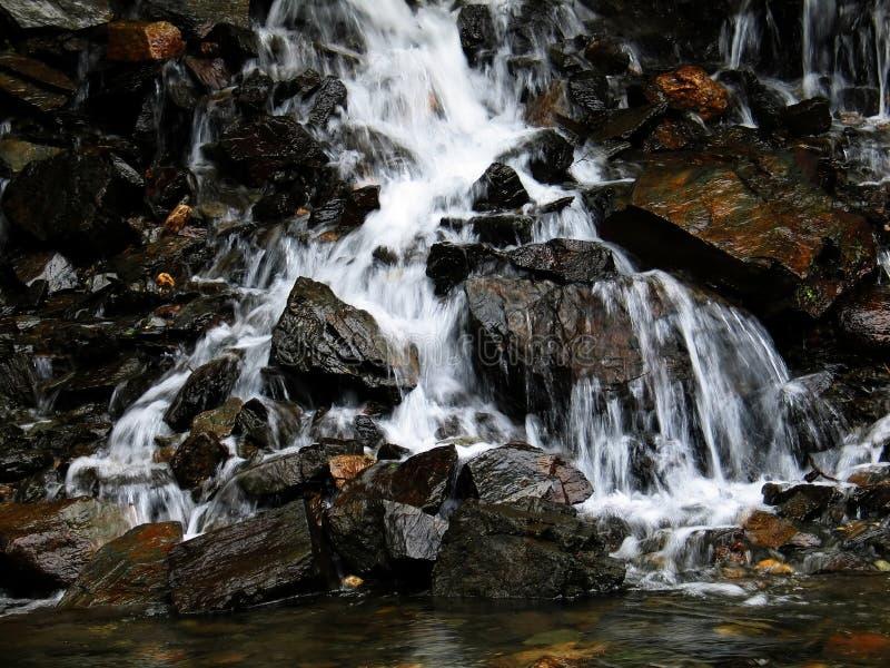 Waterfall reflection royalty free stock photo