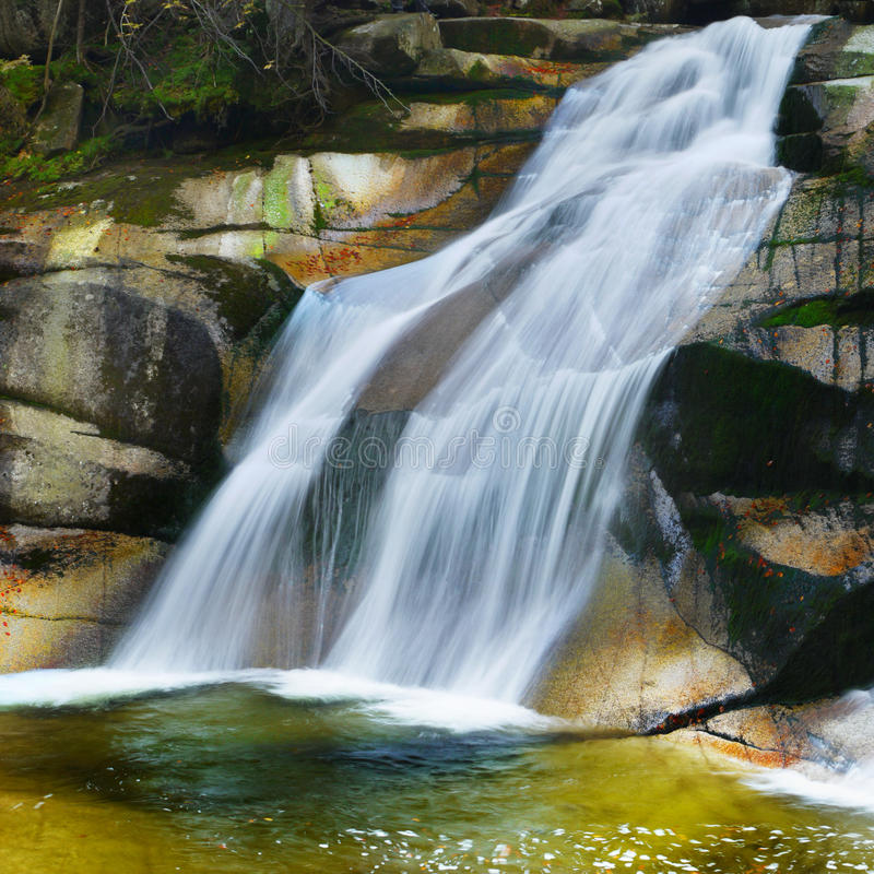 Waterfall Relaxing Landscape Nature. Waterfall Landscape Photography. Relaxing nature image with peaceful flowing water stock image