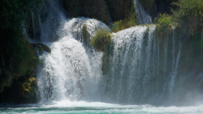 Waterfall on a river royalty free stock images