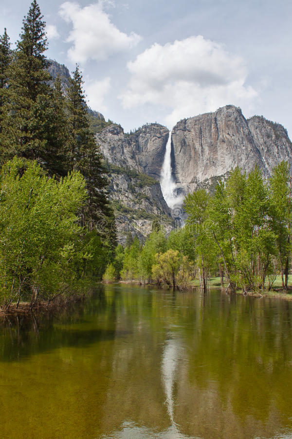 Download Waterfall And The River In Yosemite National Park Stock Image - Image: 23312219