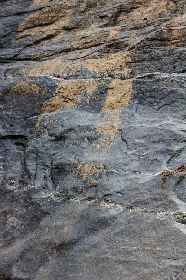 Rock detail at waterfall stock image
