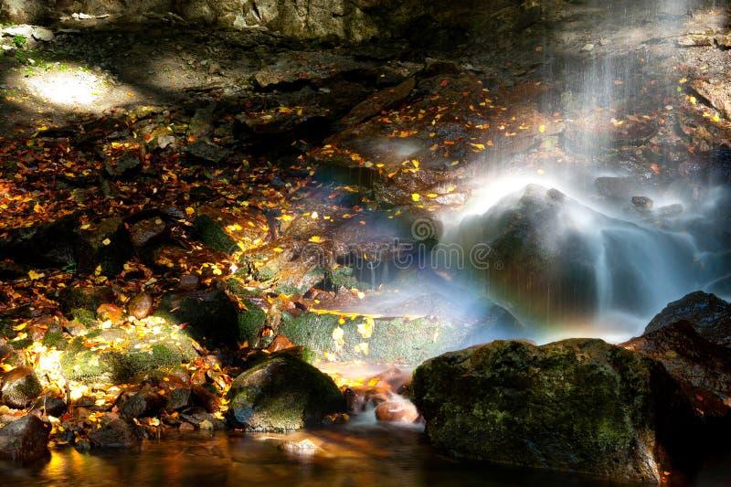 Download Waterfall rocks stock photo. Image of orange, nature - 21868418
