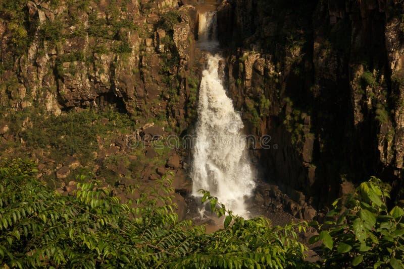 Waterfall Between Rocks stock photos