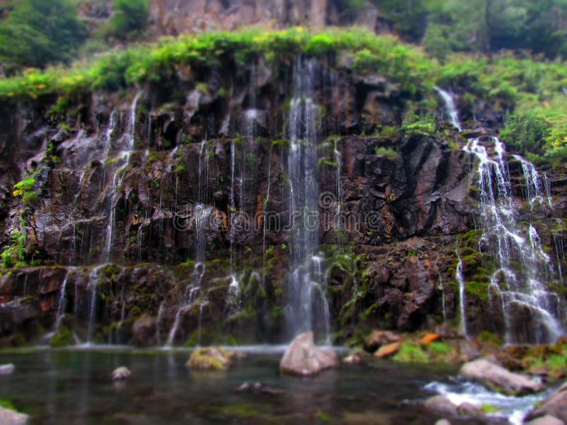 Waterfall on rocks royalty free stock images