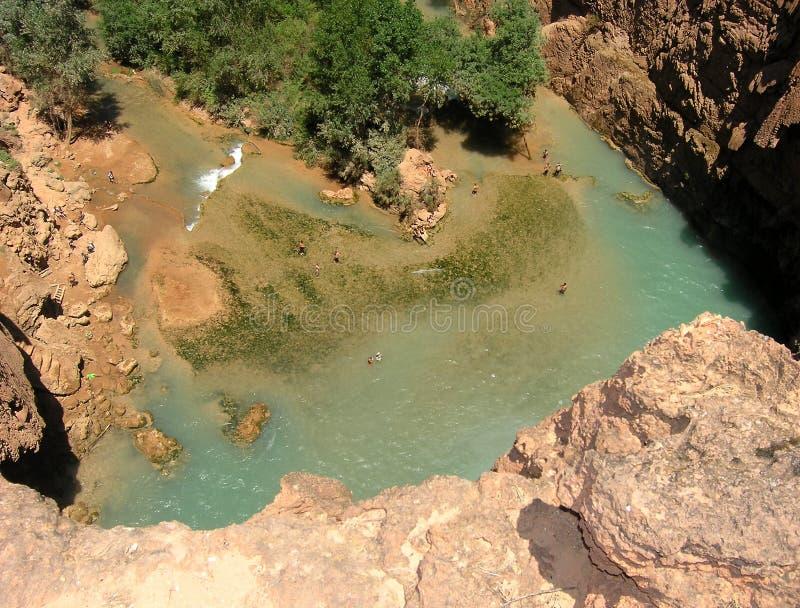 Waterfall's pool, Arizona royalty free stock photography