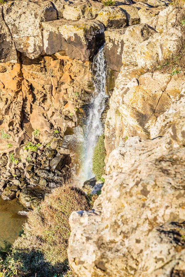 Waterfall on Sardinia, Italy royalty free stock images