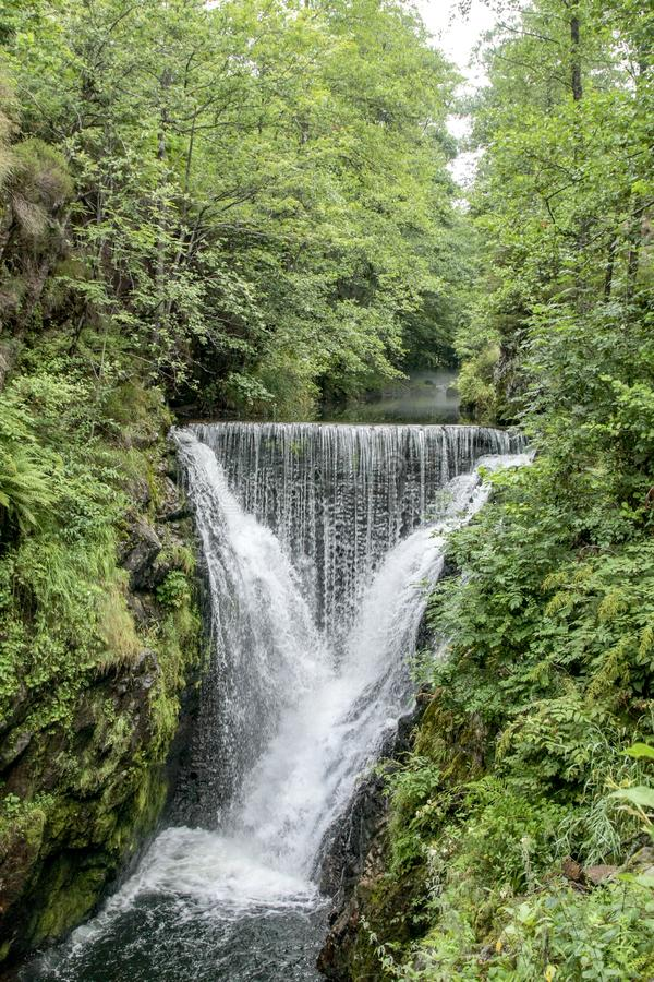 Waterfall saut de l`Ognon in Vosges. Waterfall saut de l`Ognon in Vosges France stock images