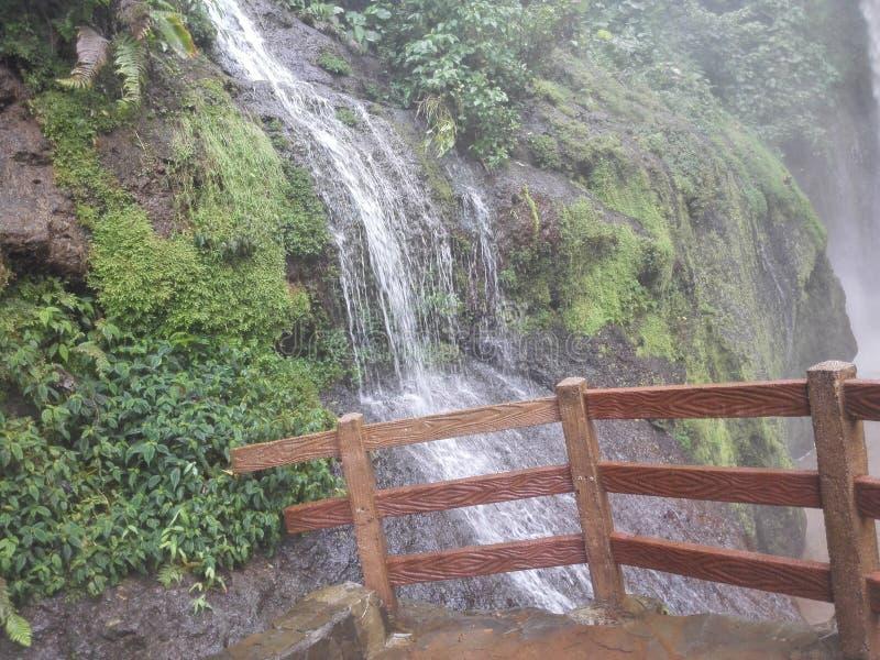 Scenic view of La Paz Waterfall Gardens to Vara Blanca to Costa Rica. stock images