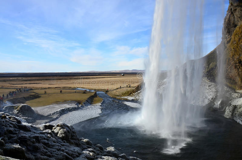 Waterfall seljalandsfoss on the Iceland