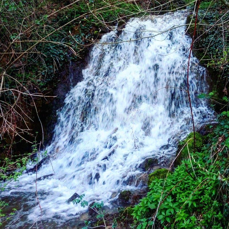 Waterfall in Serbia stock photo