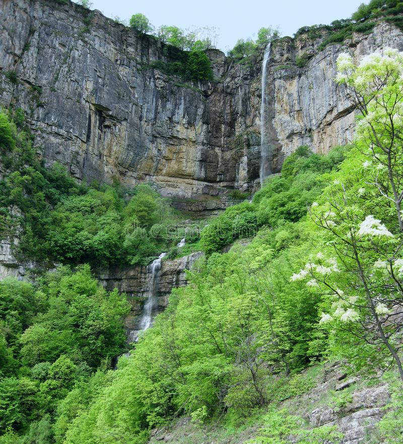 Waterfall Skaklya in Stara Planina mountain, Bulgaria. He is among one of the highest waterfalls in Bulgaria and is 85 metres high royalty free stock photography