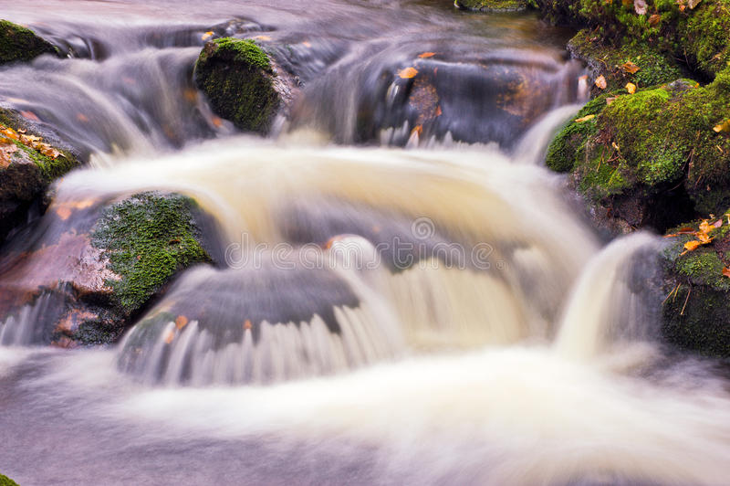 Waterfall in slow motion stock photography