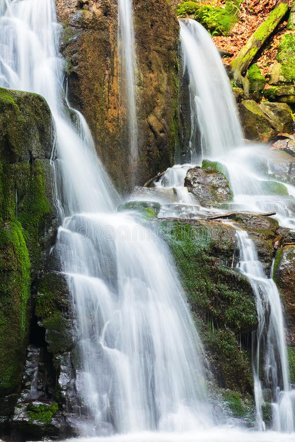 Waterfall with small cascades royalty free stock photos