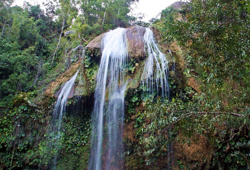 Waterfall of Soroa in Cuba. royalty free stock photo