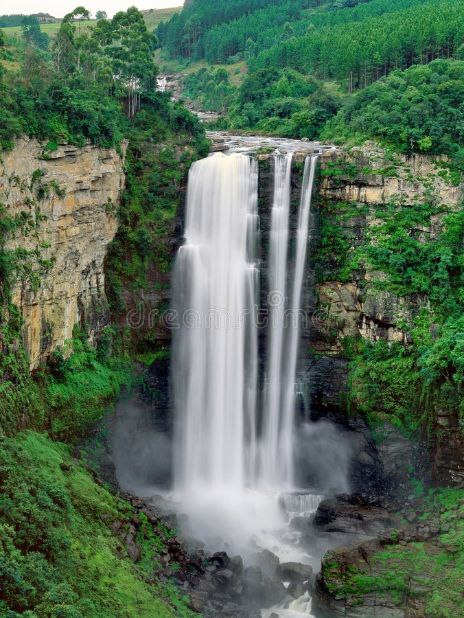 Waterfall in South Africa royalty free stock photos