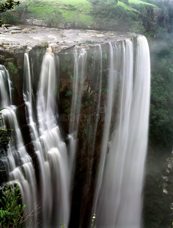 Waterfall in South Africa stock photos