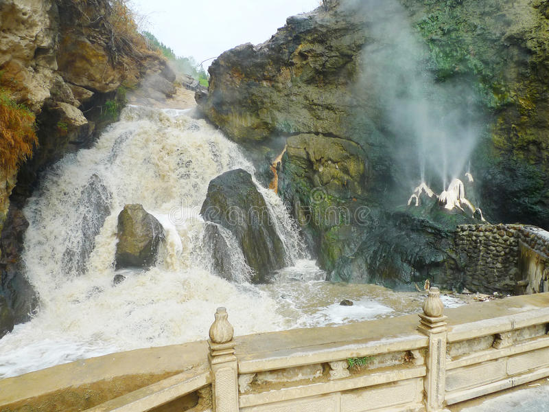 Waterfall And Spa Royalty Free Stock Photos