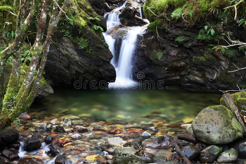 Waterfall with splashpool royalty free stock photography