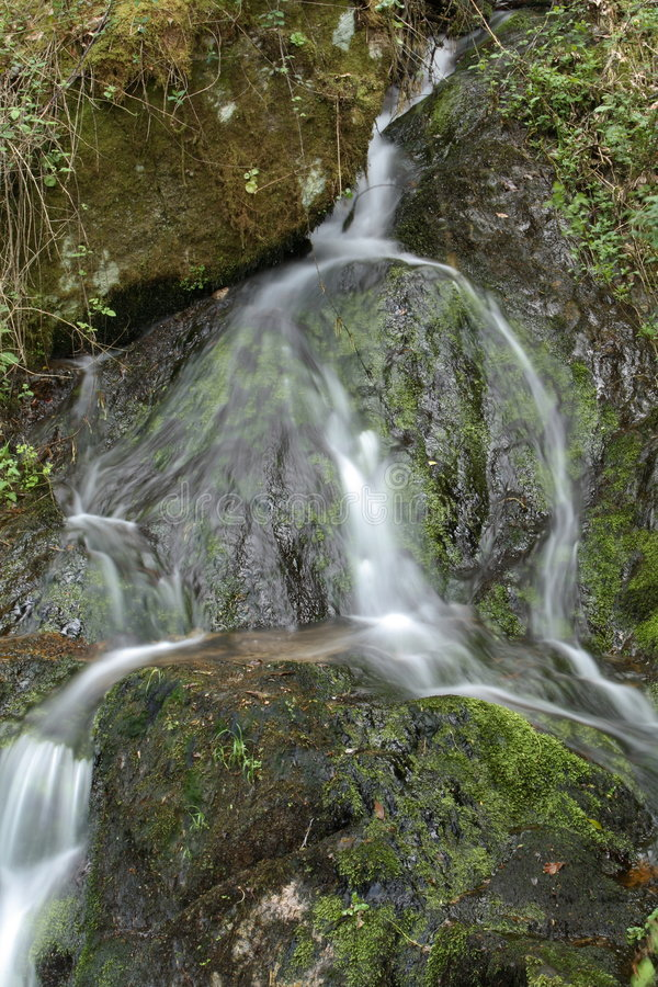 Download Waterfall in spring stock photo. Image of outdoor, moss - 2312722