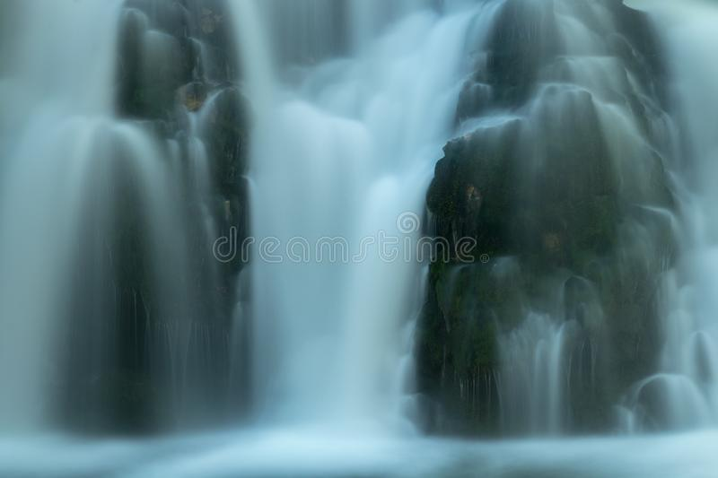Waterfall of spring Bistrica close up. Picture taken in Bohinj valley, Julian alps, Slovenia stock images