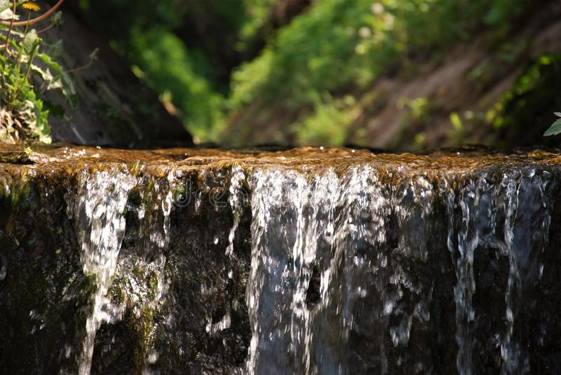 Waterfall of stream stock photography