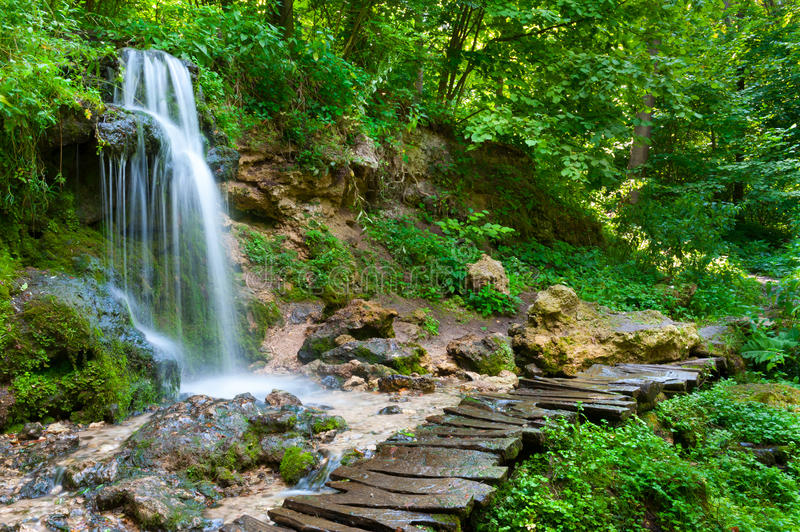 Download Waterfall stock photo. Image of park, wood, landscape - 43422710