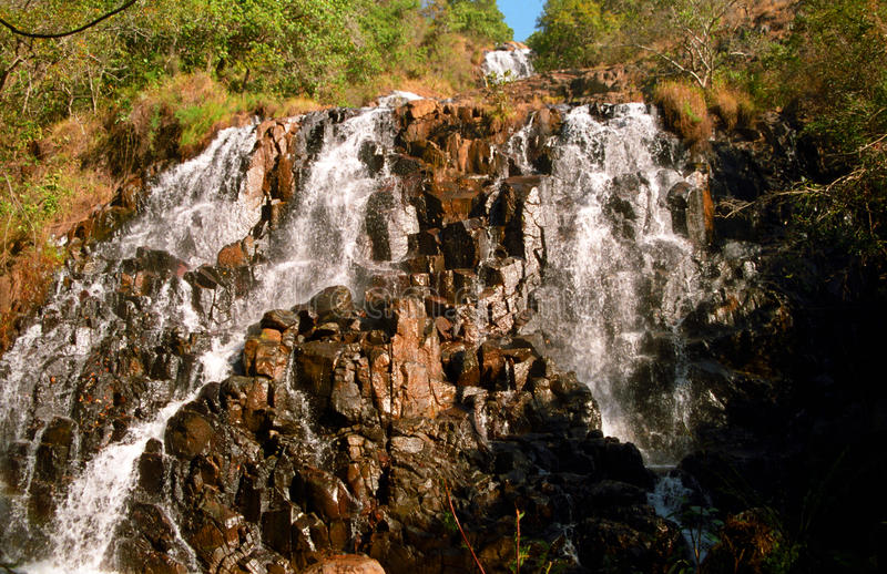 Waterfall, Swaziland stock images