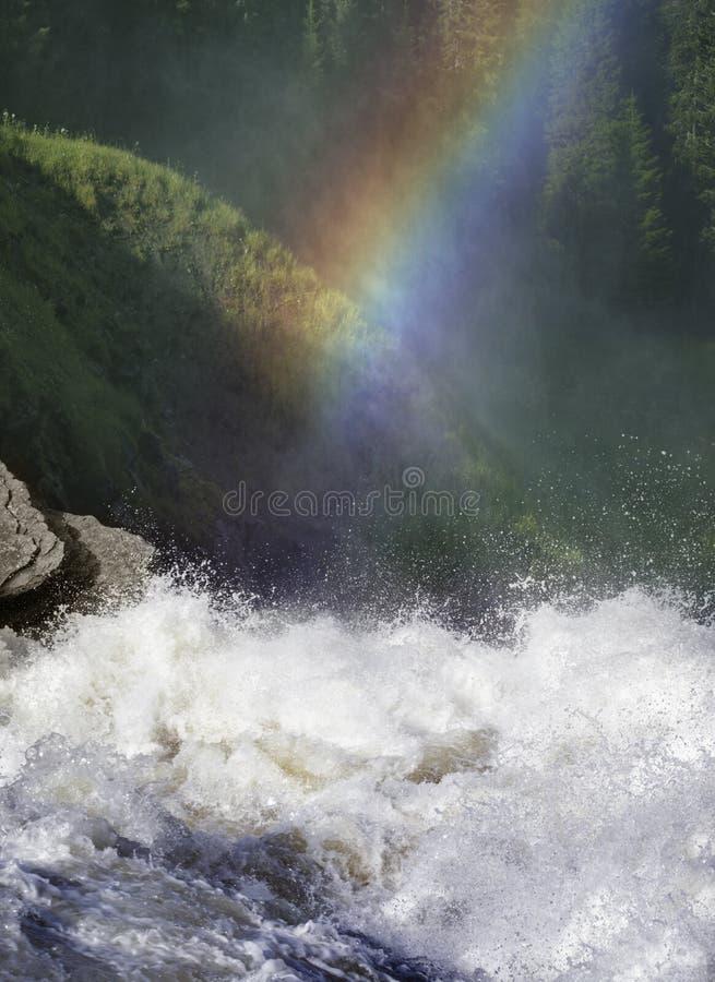 Waterfall in Sweden , Tännforsen stock photo