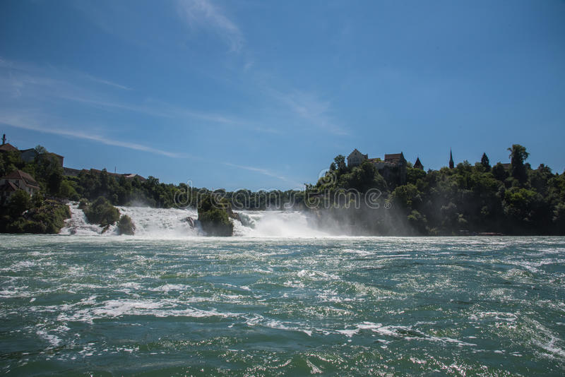 Waterfall in switzerland royalty free stock photography